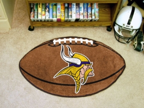 Minnesota Vikings Football Shaped Rug