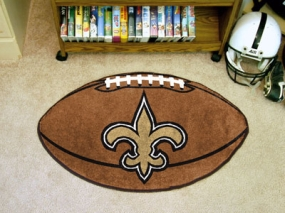 New Orleans Saints Football Shaped Rug