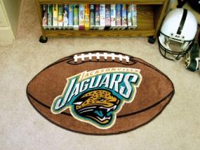 Jacksonville Jaguars Football Shaped Rug