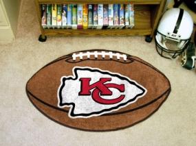 Kansas City Chiefs Football Shaped Rug