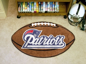 New England Patriots Football Shaped Rug
