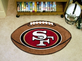 San Francisco 49ers Football Shaped Rug