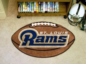 Saint Louis Rams Football Shaped Rug