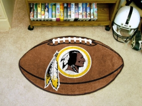 Washington Redskins Football Shaped Rug