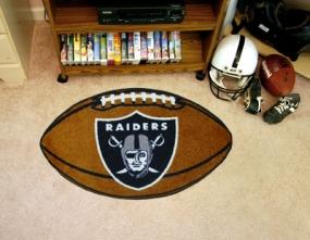 Oakland Raiders Football Shaped Rug