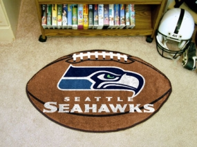 Seattle Seahawks Football Shaped Rug