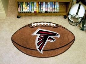 Atlanta Falcons Football Shaped Rug