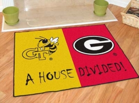 Georgia Tech Yellow Jackets House Divided Rug Mat