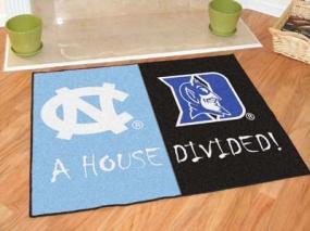 North Carolina Tar Heels House Divided Rug Mat