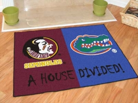 Florida State Seminoles House Divided Rug Mat