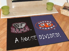Auburn Tigers House Divided Rug Mat