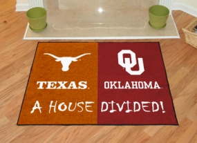 Oklahoma Sooners House Divided Rug Mat