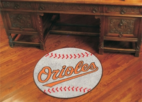 Baltimore Orioles Baseball Shaped Rug