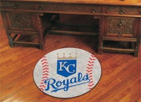 Kansas City Royals Baseball Shaped Rug