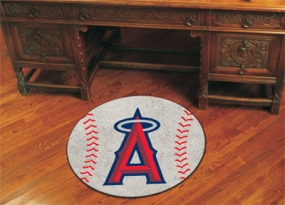 Anaheim Angels Baseball Shaped Rug