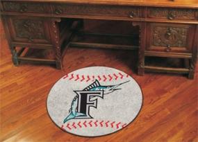 Florida Marlins Baseball Shaped Rug