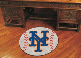 New York Mets Baseball Shaped Rug