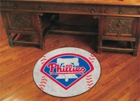 Philadelphia Phillies Baseball Shaped Rug