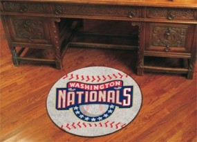 Washington Nationals Baseball Shaped Rug