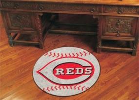 Cincinnati Reds Baseball Shaped Rug