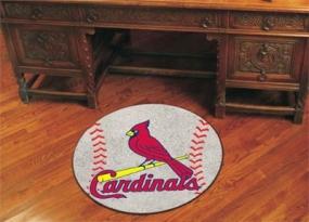 St. Louis Cardinals Baseball Shaped Rug