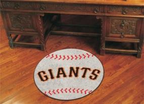 San Francisco Giants Baseball Shaped Rug