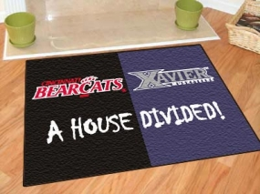 Cincinnati Bearcats House Divided Rug Mat