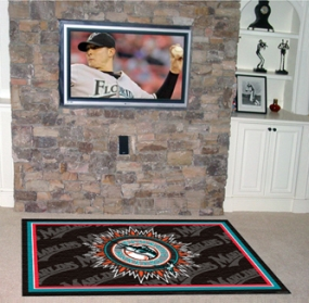 Florida Marlins Area Rug