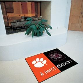 Clemson Tigers House Divided Rug Mat