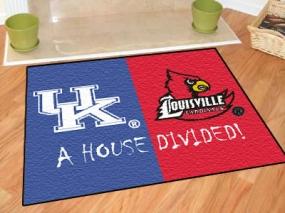 Kentucky Wildcats House Divided Rug Mat