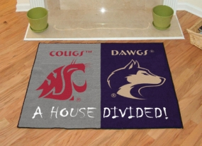 Washington Huskies House Divided Rug Mat