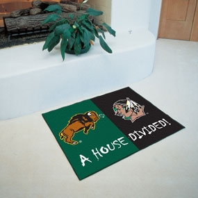 North Dakota State Bison House Divided Rug Mat