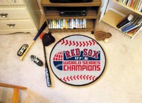 2007 World Series Champions Baseball Shaped Rug