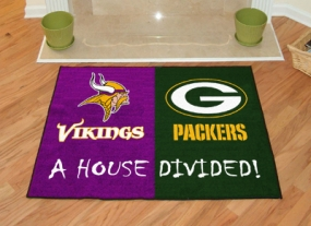 Green Bay Packers House Divided Rug Mat