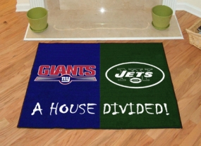 New York Jets House Divided Rug Mat
