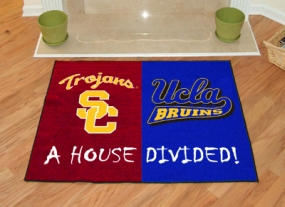 UCLA Bruins House Divided Rug Mat