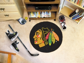 Chicago Blackhawks Hockey Puck Mat