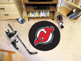 New Jersey Devils Hockey Puck Mat