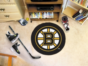 Boston Bruins Hockey Puck Mat
