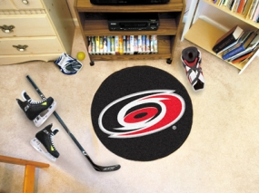 Carolina Hurricanes Hockey Puck Mat