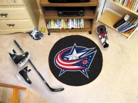 Columbus Blue Jackets Hockey Puck Mat