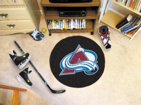 Colorado Avalanche Hockey Puck Mat