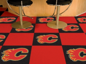 Calgary Flames Carpet Tiles