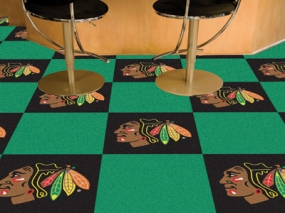 Chicago Blackhawks Carpet Tiles