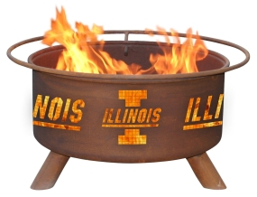 Illinois Fighting Illini Fire Pit