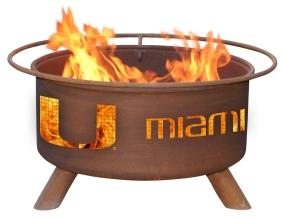 Miami Hurricanes Fire Pit