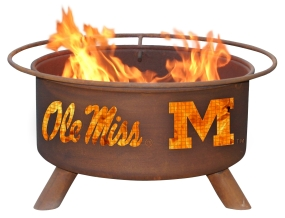 Mississippi Rebels Fire Pit