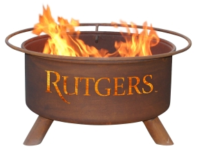 Rutgers Scarlet Knights Fire Pit
