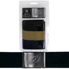 Eagles Tri-Pack Web Belt