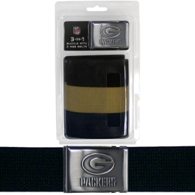 Packers Tri-Pack Web Belt
